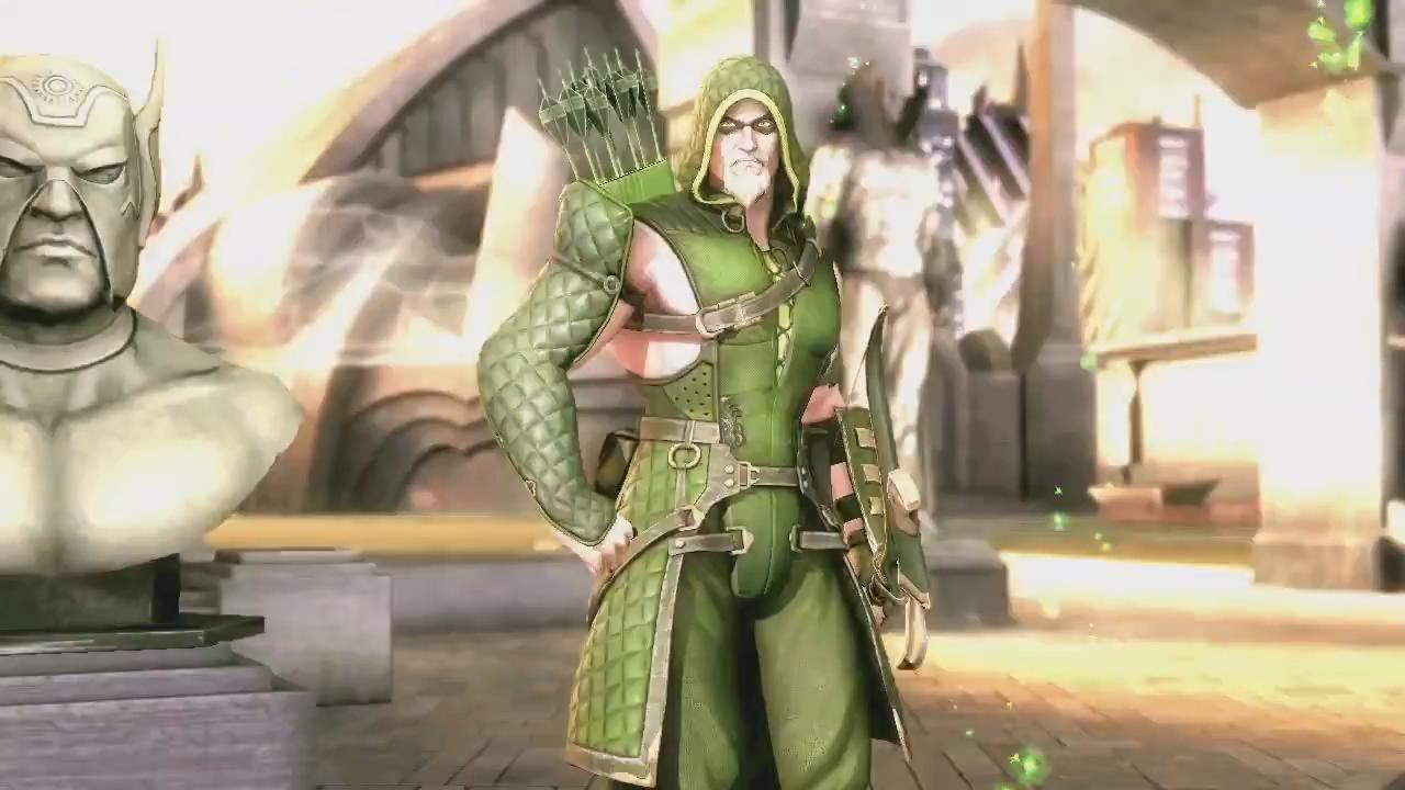 Injustice Hawkgirl Injustice Gods Among Us Green Arrow Vs Hawkgirl Trailer Screenshot Hawkgirl Injustice Green Arrow