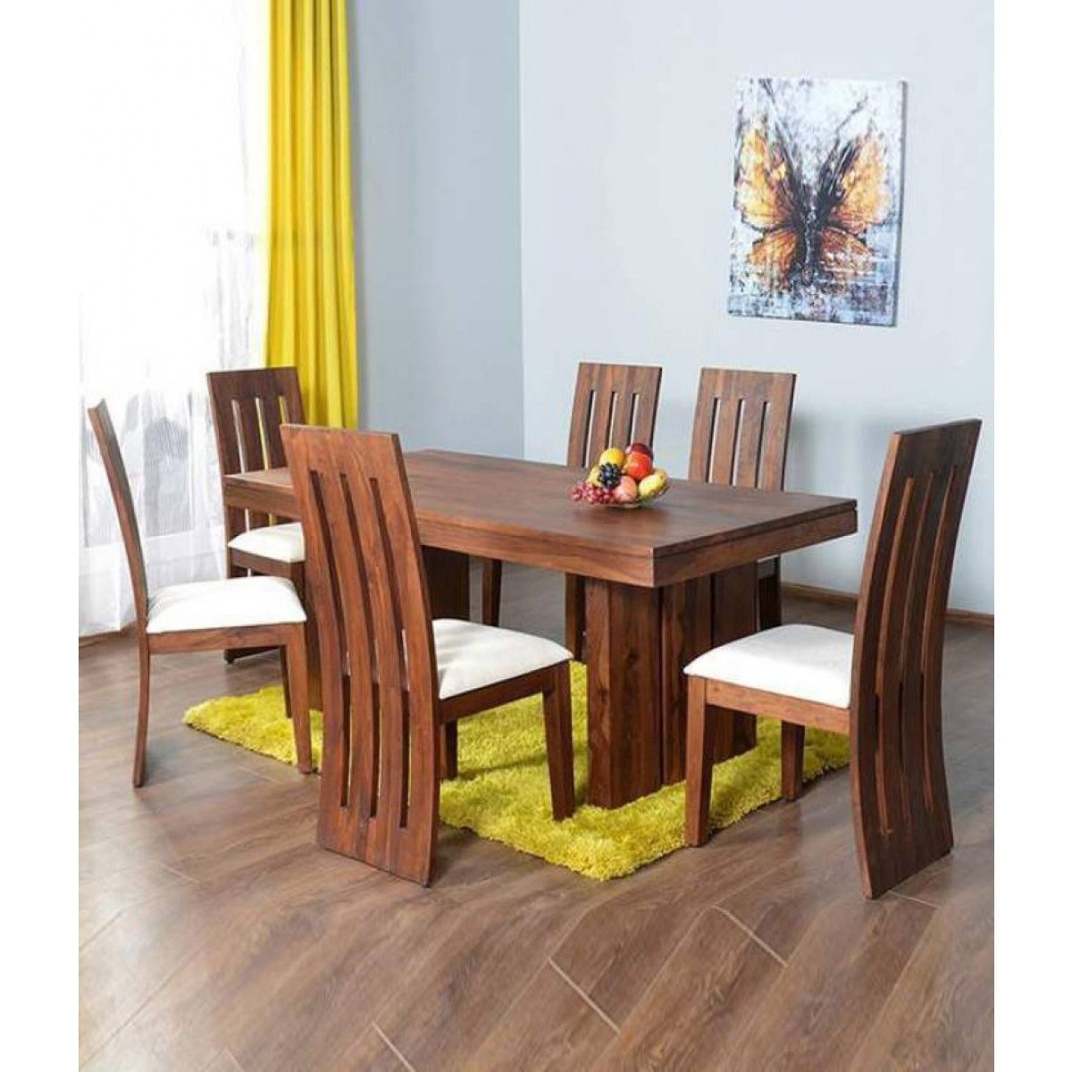 Gorevizon Hard Wooden Dining Table Set Finish Color Honey Wooden Dining Table Set Wooden Dining Table Designs Dining Table Design Modern