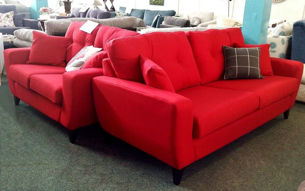 Only 799 ½ Price Retro Style Red 3 2 Sofa Set Free Delivery The Interior Outlet