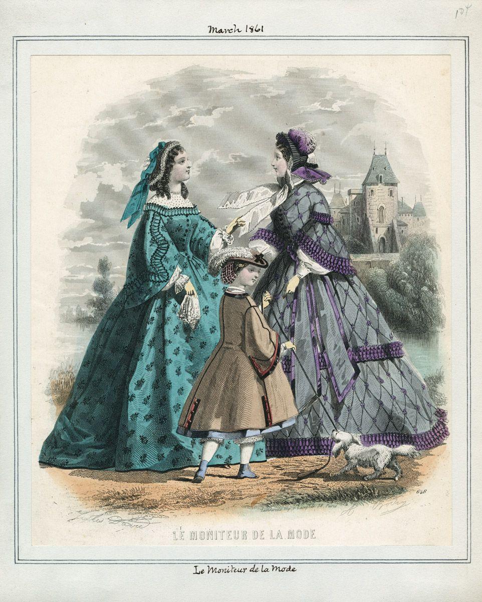 Le Moniteur de la Mode March 1861 LAPL