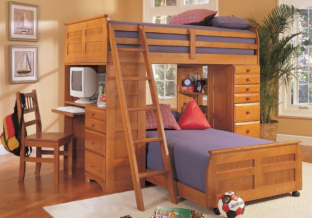Check Out The Ontario Loft Bed Which Combines TWO Beds, Desk, And Lots Of  Drawers. The Ontario Loft Bed System Is Furniture Your Child Can Use Until  They ...