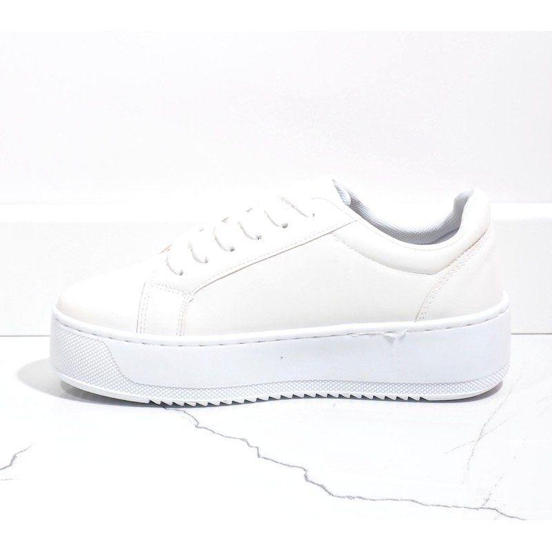 Biale Trampki Na Platformie 798 Shoes White Sneaker Sneakers