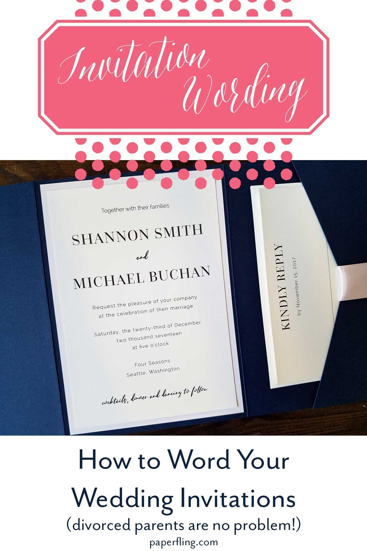 How to Word Your Wedding Invitations | Paper Fling Divorced parents ...