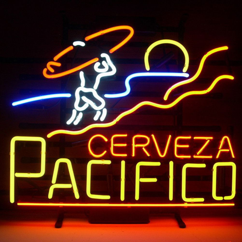 Pacifico Clara Mexican Cerveza Neon Beer Lager Bar Sign