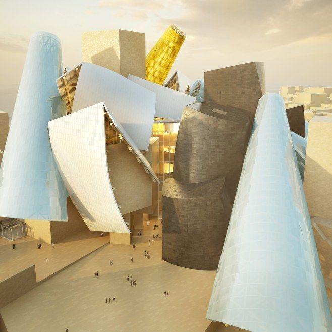 Digital rendering of the Guggenheim Abu Dhabi Museum.