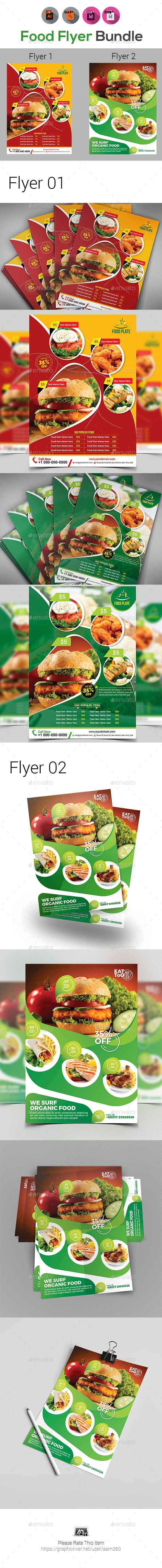 Food Flyer Template Bundle  A Adobe And Burgers