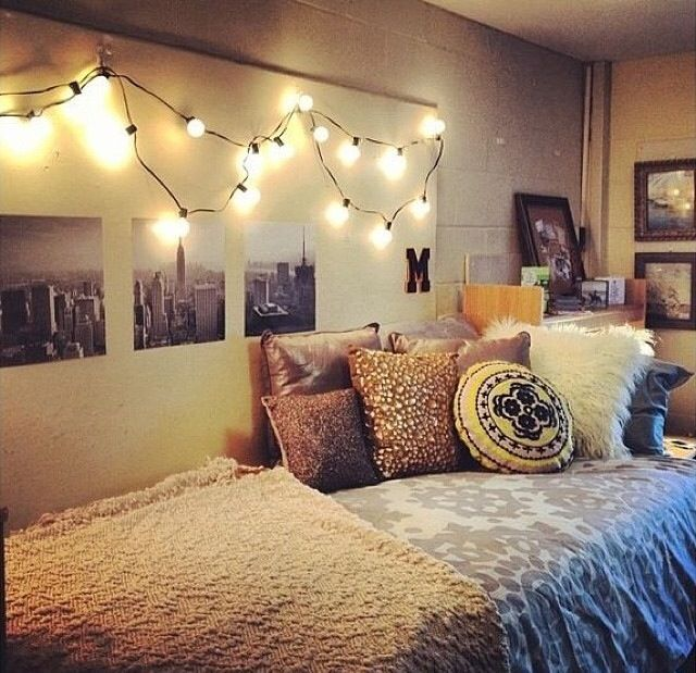 light college apartment rooms. Dorm Room Lights  College Living Pinterest Paintings And