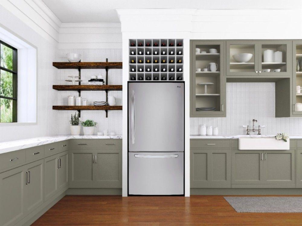 Lg 24 1 Cu Ft Large Capacity Bottom Freezer Refrigerator With