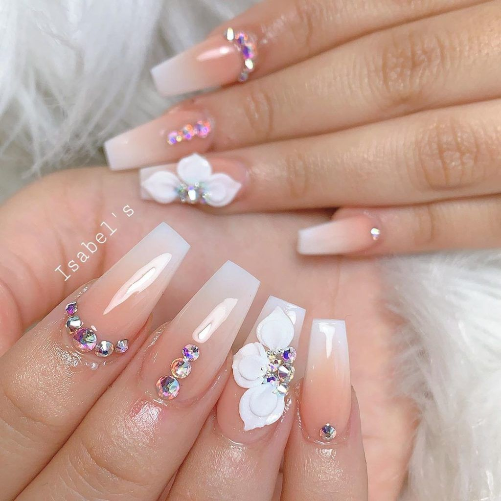Cute Nails September 2019 In 2020 Bride Nails Coffin Nails Designs Summer Ombre Nail Art Designs