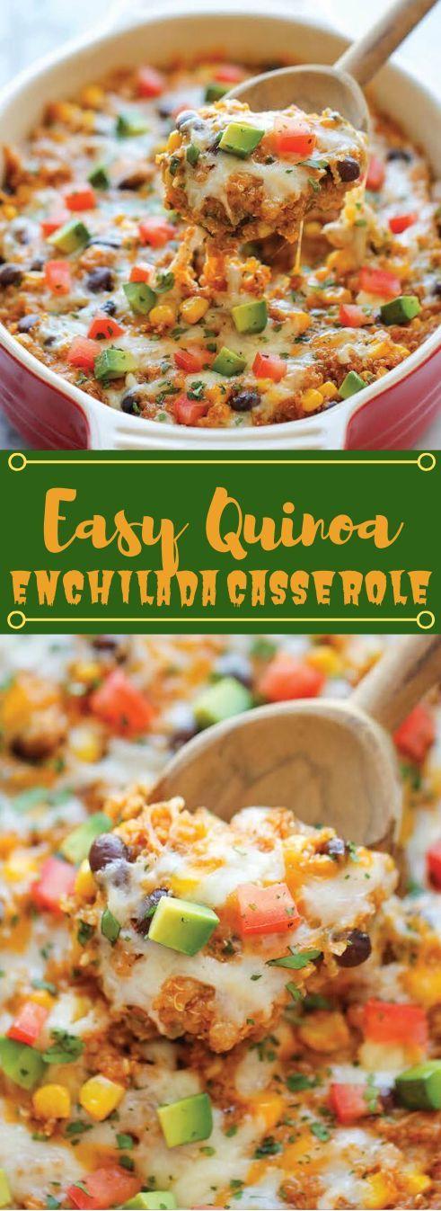 Quinoa Enchilada Casserole QUINOA ENCHILADA CASSEROLE recipes