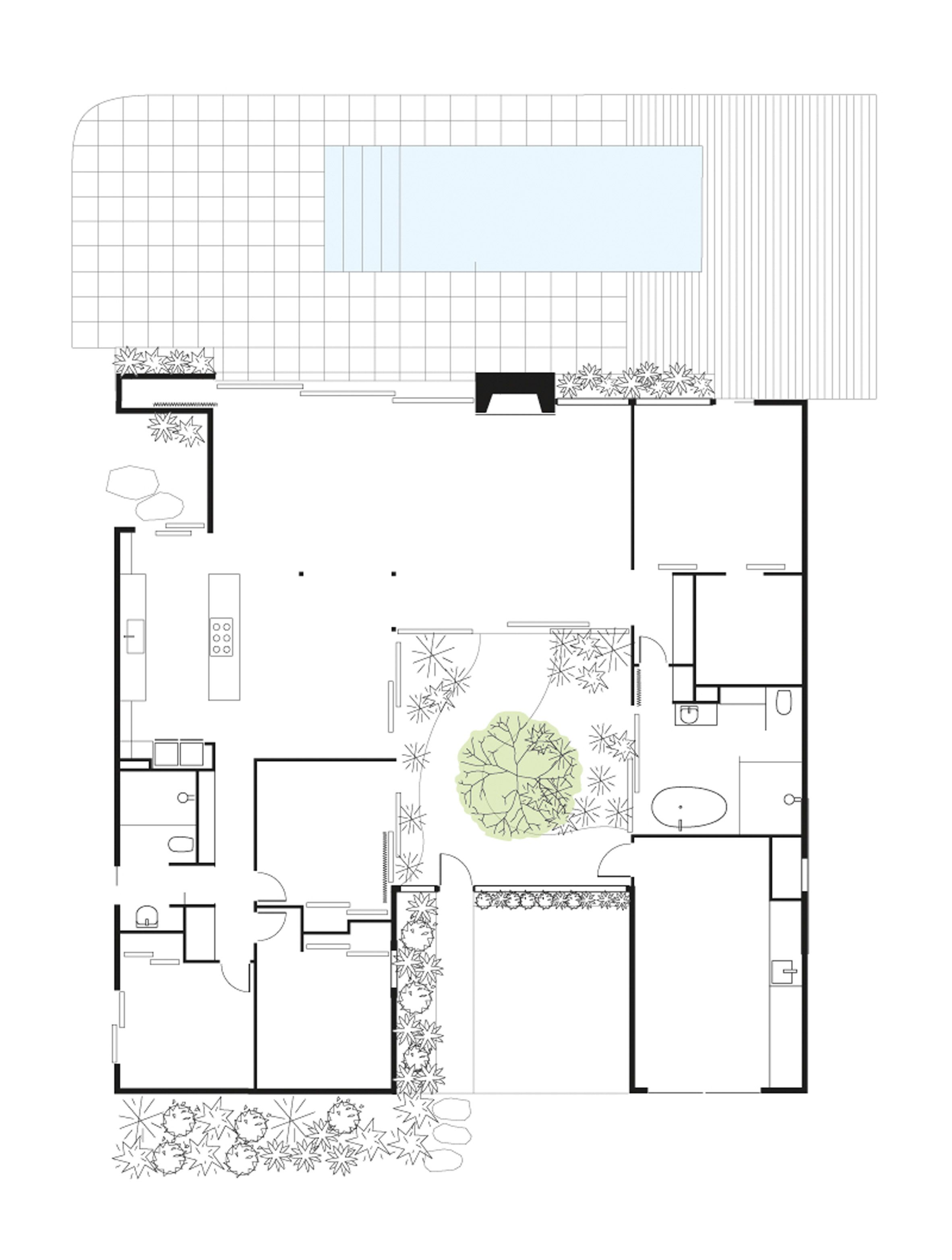 White Twin Gable House By Ryan Leidner Architecture Is A Remodeled Eichler In 2020 Gable House Eichler Homes Eichler House Plans