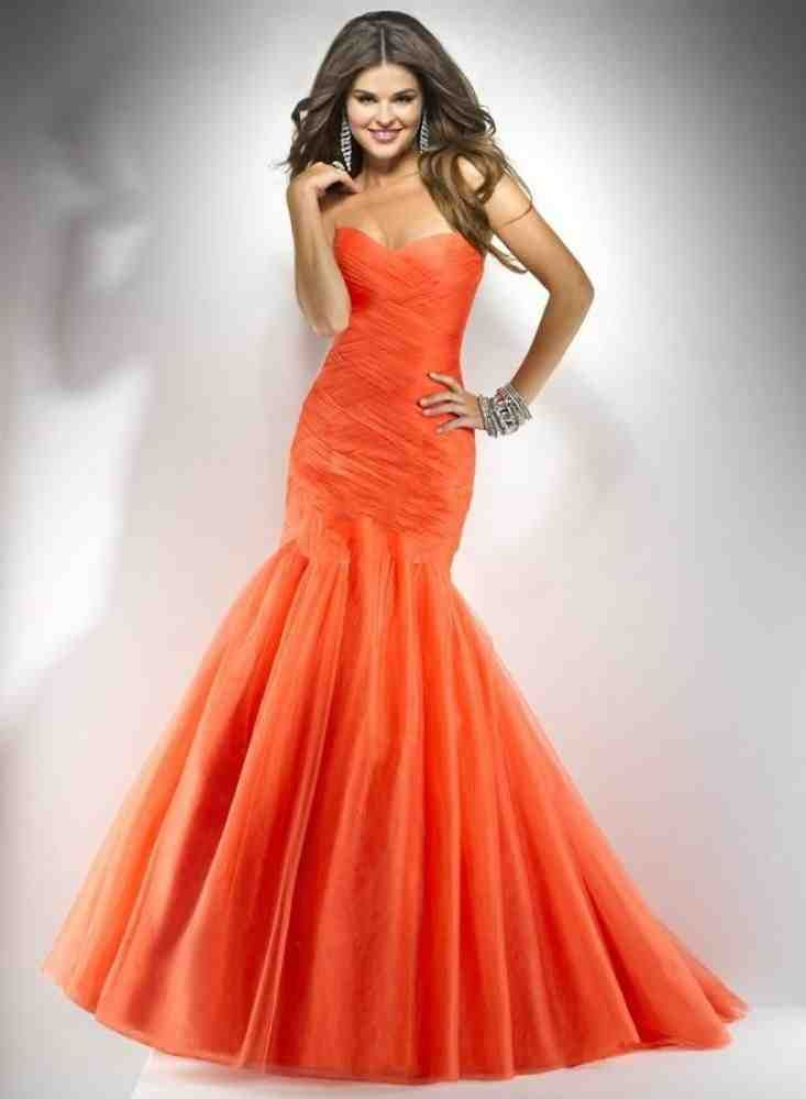 Orange Bridesmaid Dresses for Less than 100