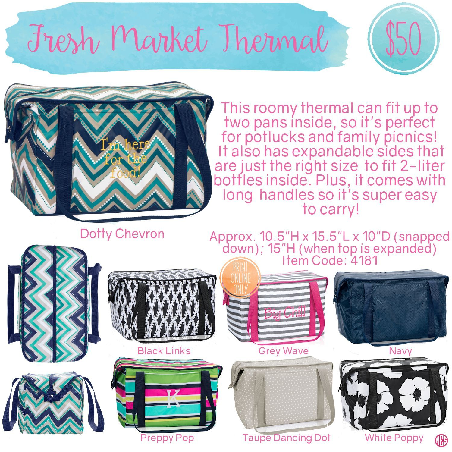 2de36c511d Fresh Market Thermal Pouch by Thirty-One. Spring Summer 2016. Click to