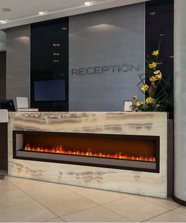 Dimplex Optimyst Electric Fireplace Set Into Onyx Gorgeous Way To
