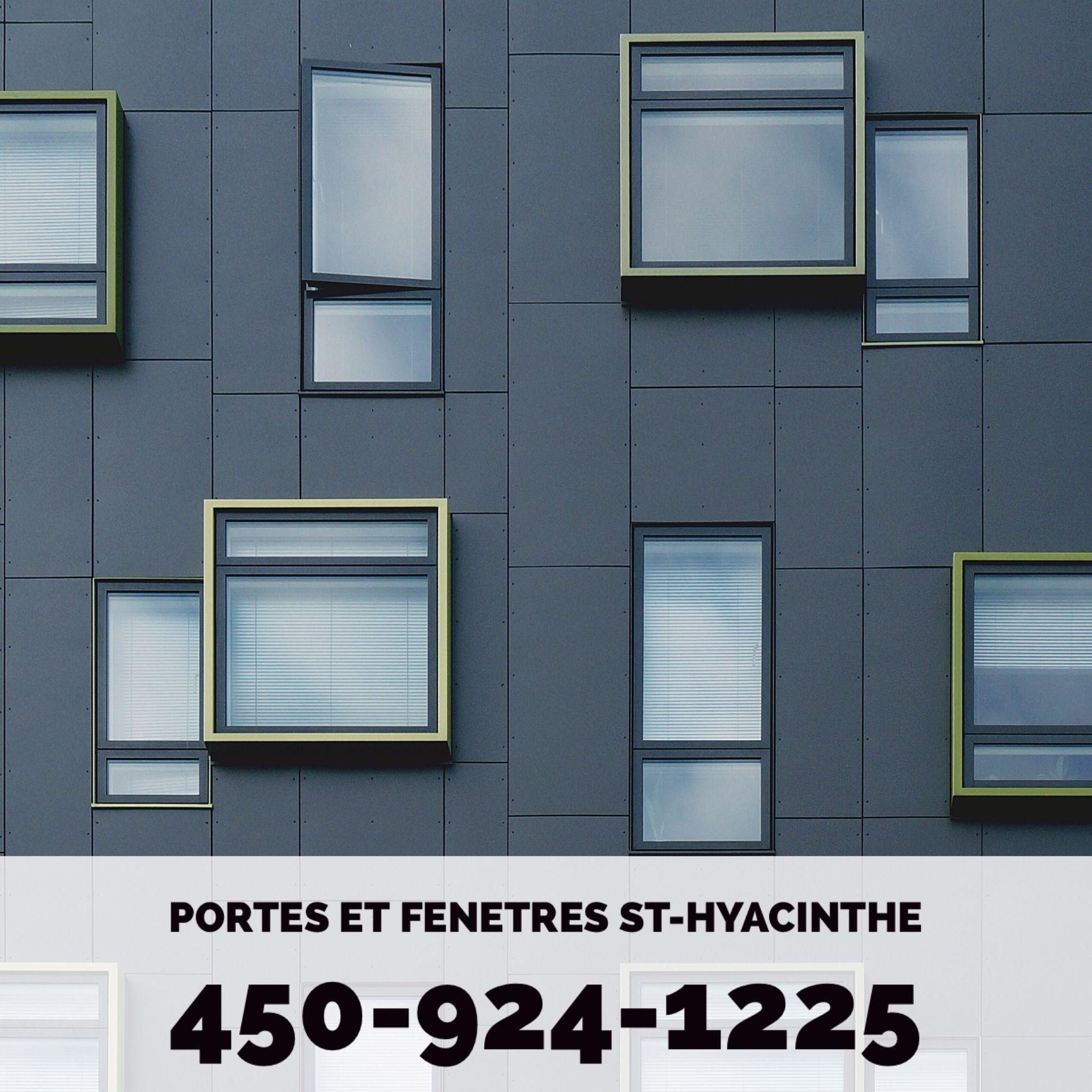 Portes Et Fenetres St Hyacinthe 450 924 1225 Www Portesetfenetresathyacinthe Ca Facade Design Pattern Modern Windows Exterior Facade Design