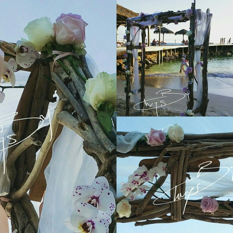 arche bois flott s mariage sur la plage toubana beach st anne guadeloupe mariage by chrys. Black Bedroom Furniture Sets. Home Design Ideas