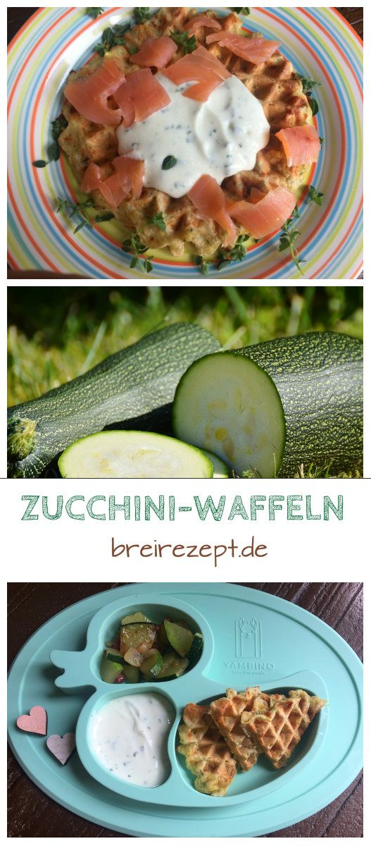 Photo of Recipe for savory waffles with zucchini (baby-friendly)