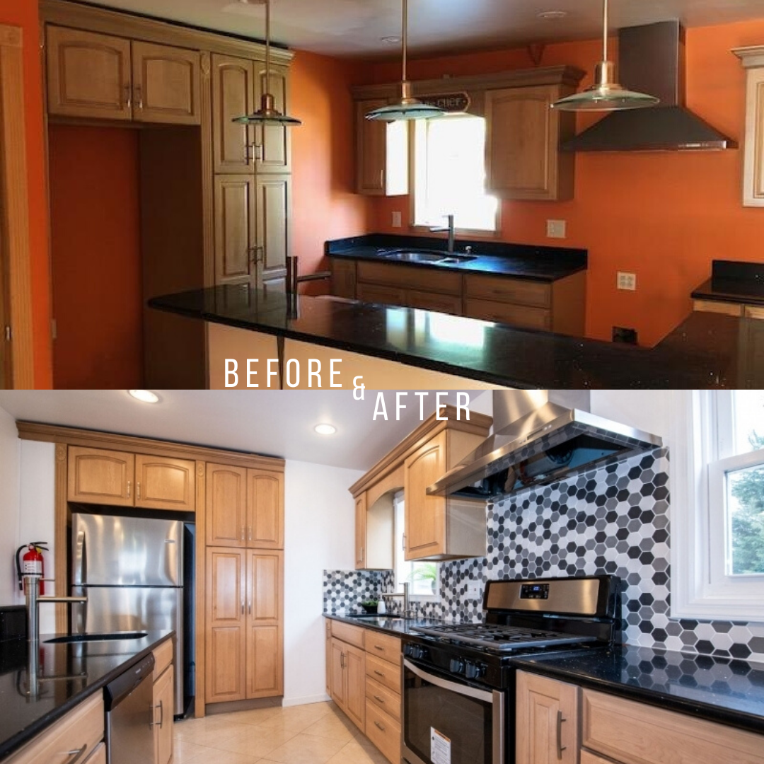 Before And After Kitchen In 2020 Kitchen Real Estate Nj Home