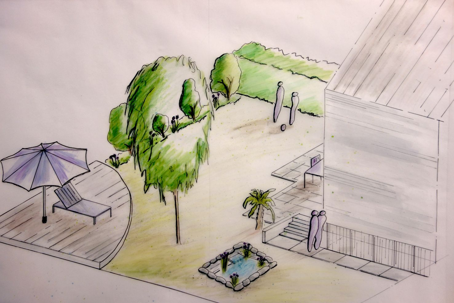 Isometrie zeichnen in der gartengestaltung sketch pinterest isometrie zeichnen und zeichnen - Garten zeichnen ...