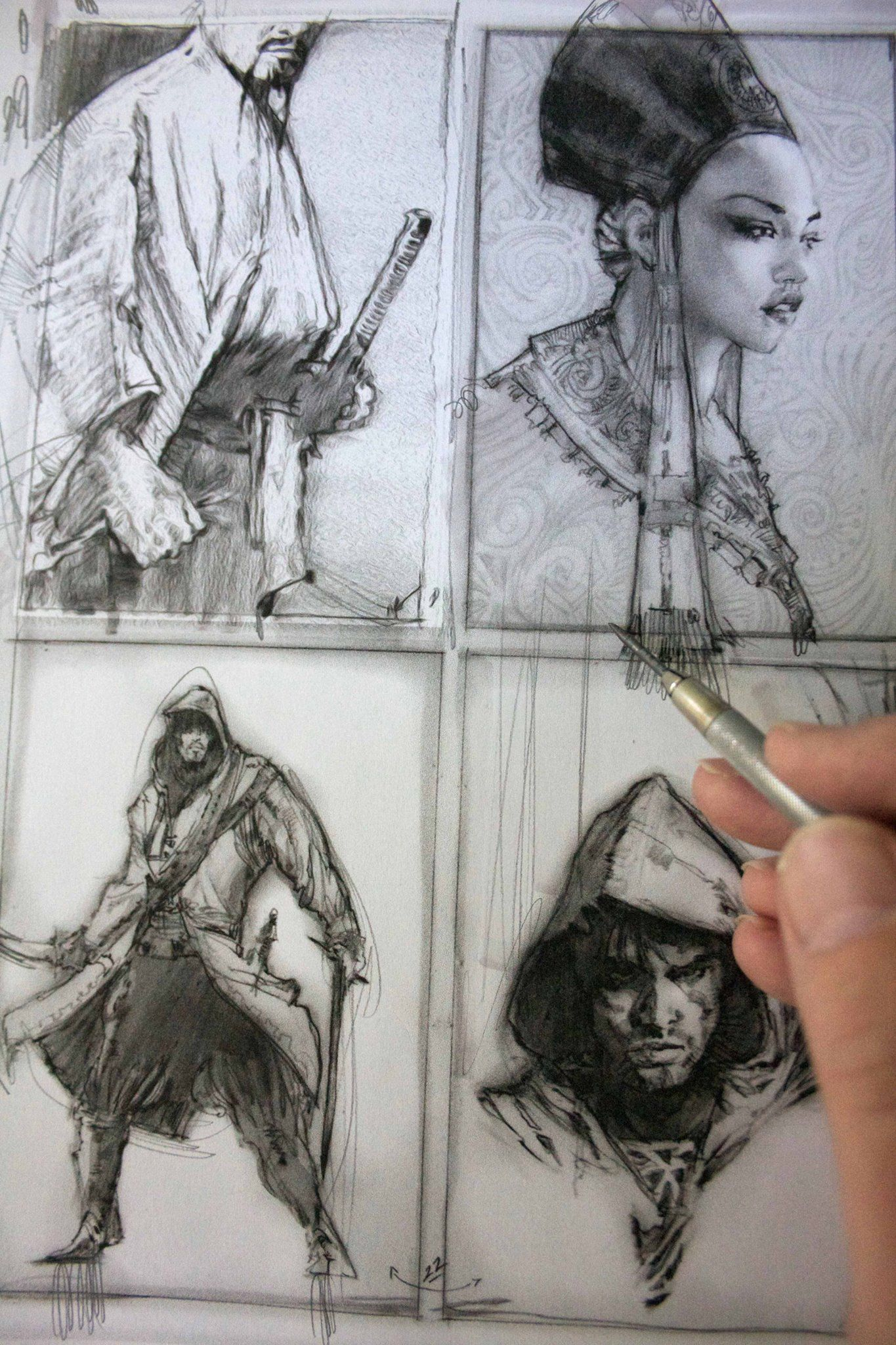 La imagen puede contener: 2 personas, dibujo