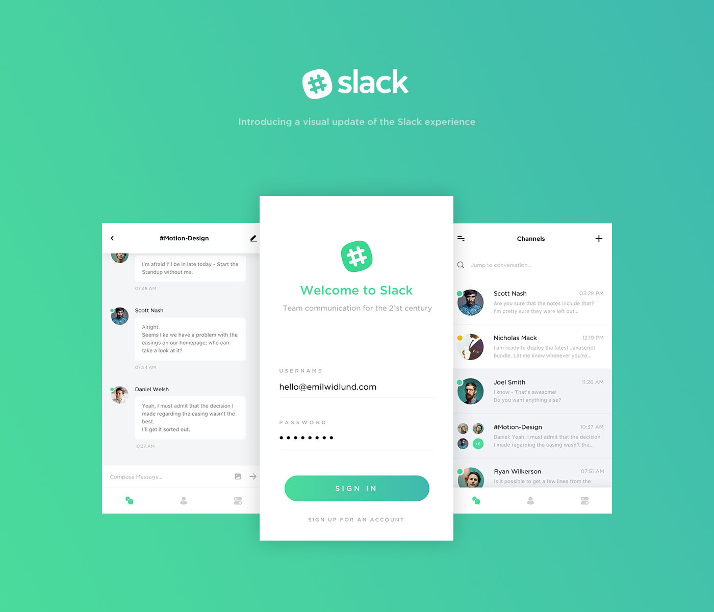I decided to take create a new visual interface for the slack app i decided to take create a new visual interface for the slack app i ccuart Gallery