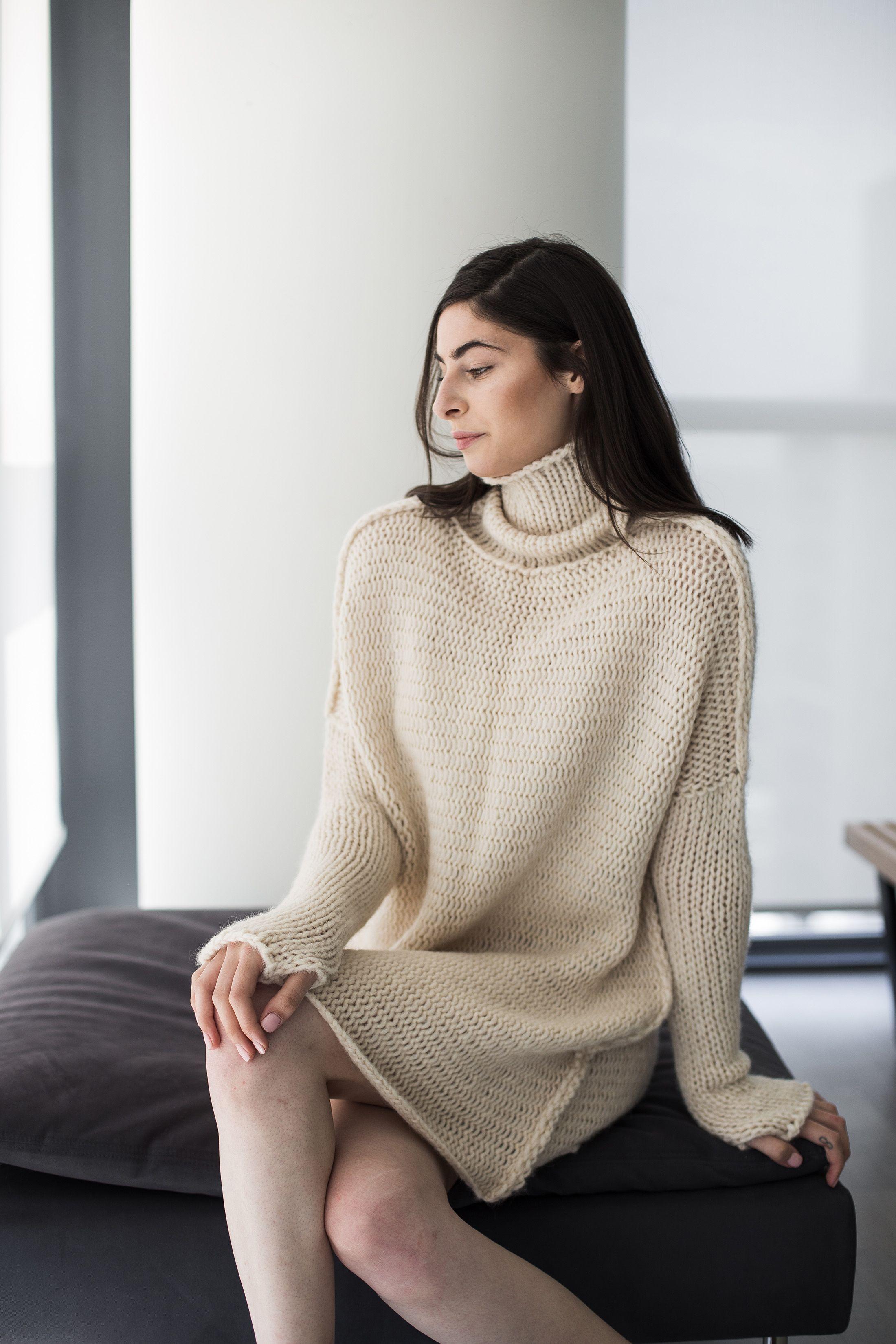 Cream Alpaca oversized tunic dress | Sweaters, Sweaters for