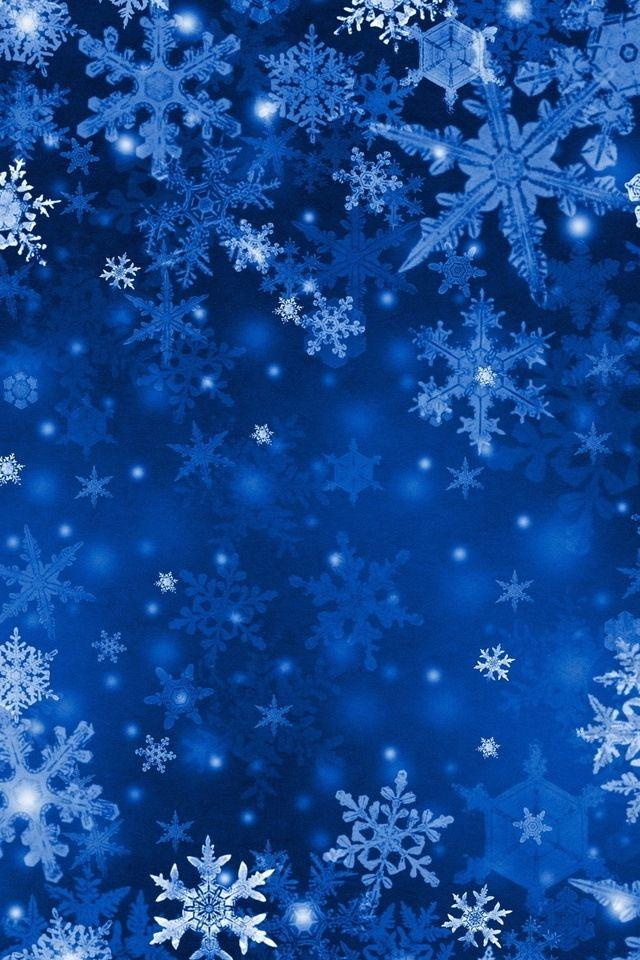 Blue Snowflakes Christmas Pinterest