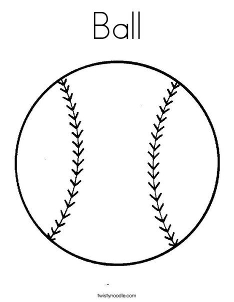 Sports Balls Coloring Pages | Coloring Pages | Pinterest | Noodle