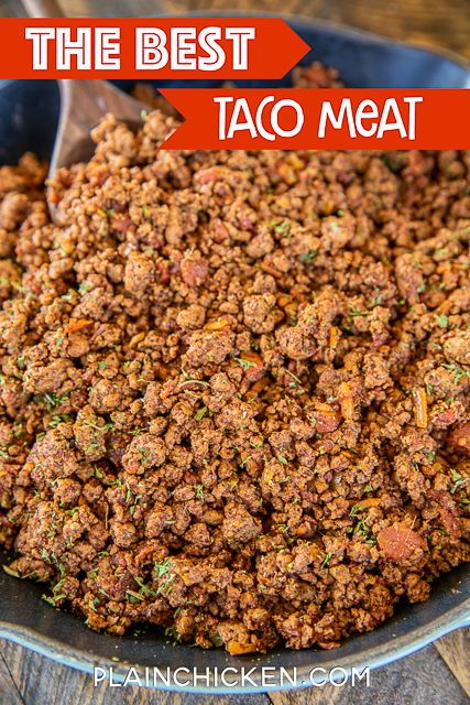 The BEST Taco Meat