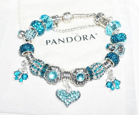 Blazing Blue Love Dove Cross Authentic Jared Pandora Bracelet