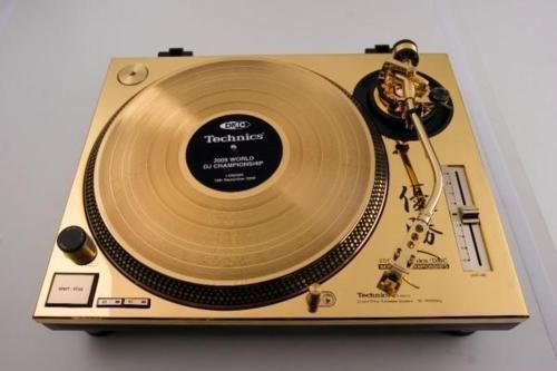 Gold Technics Turntables.
