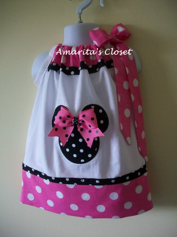 Minnie Mouse pillowcase dress Size 3 monts to 6 years old. $28.00, via Etsy.
