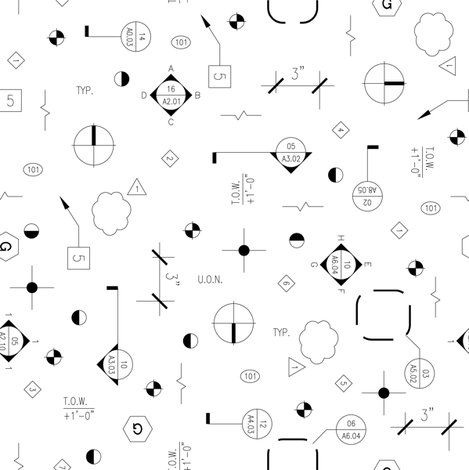 architectural symbols by terratactile via spoonflower (for