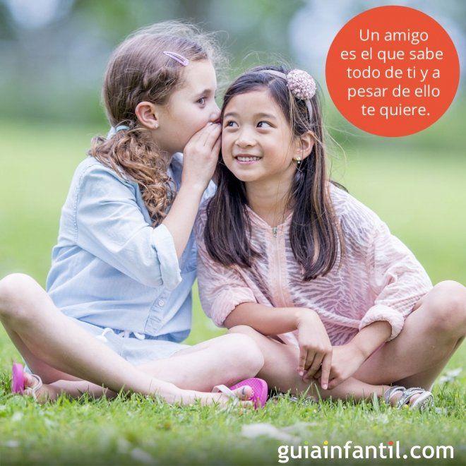 Frases De Amistad Para Niños Amigas Con Un Secreto Frases De Amistad Imagenes De Amistad Frases De Niños