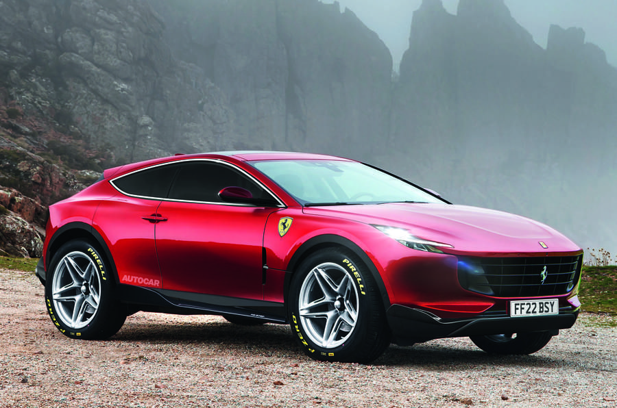 Photo of Ferrari Purosangue SUV Due in 2022 With V6 and V12 Plug-in Hybrid Versions