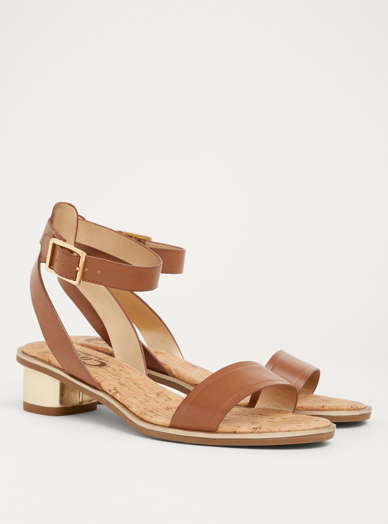 Wide width sandals, Ankle strap heels