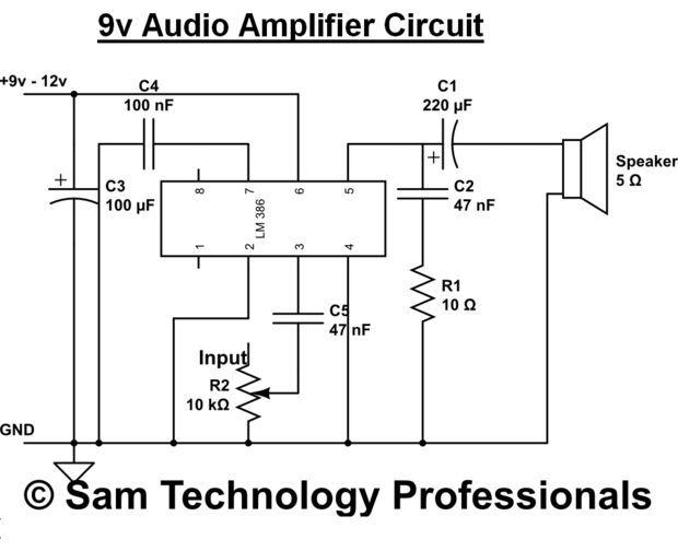 Simple Audio Amplifier - DIY   prjct   Audio amplifier, Audio, Diy