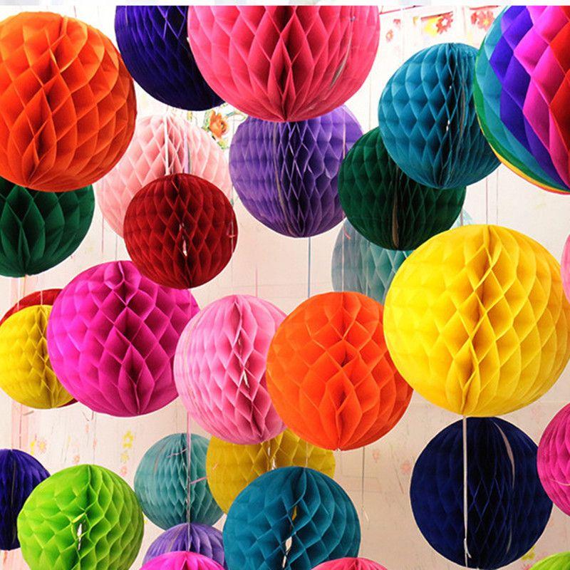 Tissue Paper Ball Decorations Christmas Decorations 30Cm 6Pcs Mixcolor Honeycomb Balls Cellular
