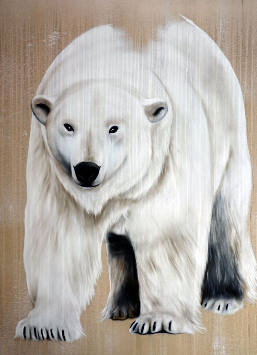 walking polar bear 6 ours ours polaire peinture animali re. Black Bedroom Furniture Sets. Home Design Ideas