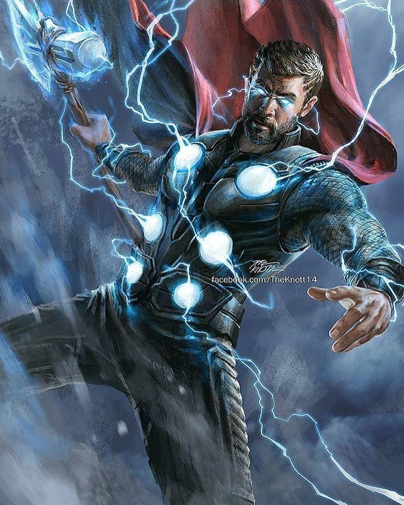Thor Art By The Knott Pic Via Heroic Comics Wakanda Thanos