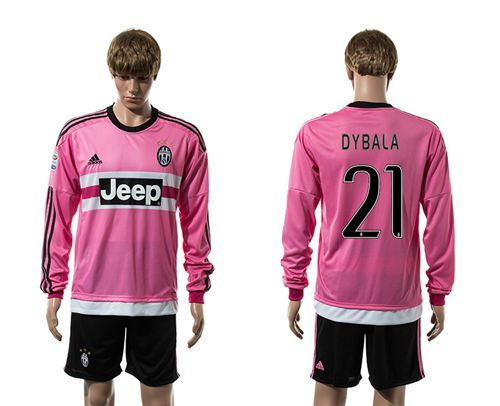784477d2d Juventus  21 Dybala Pink Long Sleeves Soccer Club Jersey