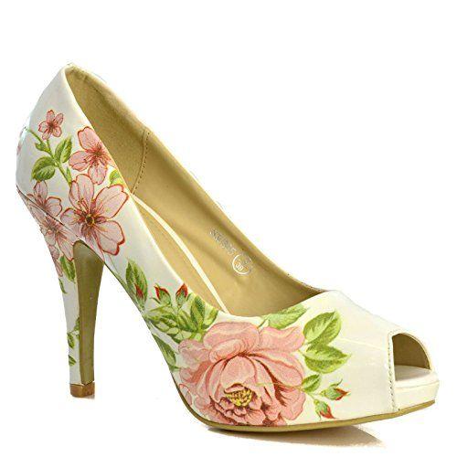 New Ladies White PVC Court Shoes Women's UK 4 EU 37