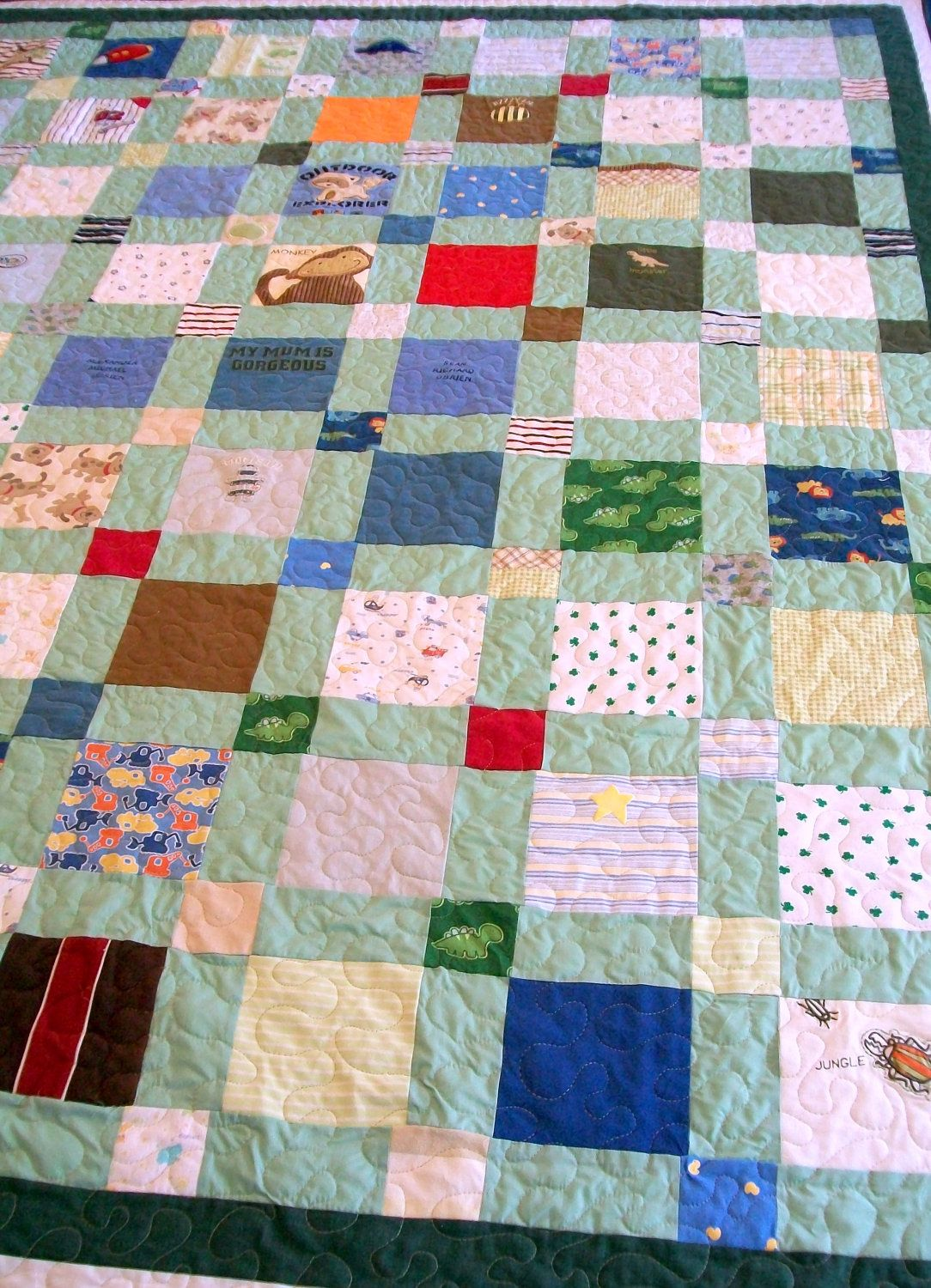 Baby clothes quilt king size 98 x 102 60 to 70 clothing