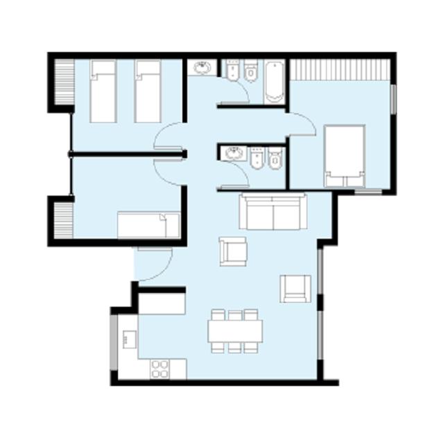 Plano de casa de 80 m2 casas planos de casas casas y for Casa moderna 5 dormitorios