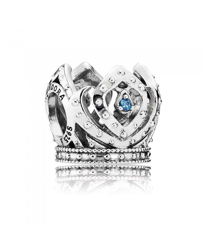 Elsa S Crown With Blue Cz Charm 791588czb Pandora Charms Disney Pandora Disney Pandora