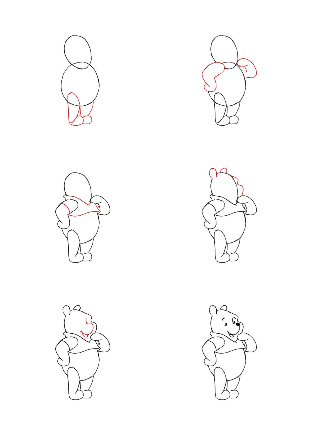 How To Draw Winnie The Pooh Characters Step By Step How to draw Winnie The Pooh Winnie the pooh drawing
