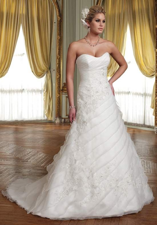 .  More dresses in this collection                                                                          More of this type: A-Line, Strapless, Sweetheart, Asymmetric, Dropped, Floor, Attached, Chapel, Organza, Lace, Beading, Lace, Whites/Ivory, $$        Mon Cheri Bridals    211253 Daisy