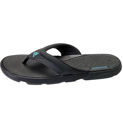 745d41bb1c4 Adidas Raggmo 2 Mens Q22017 Black Blue Supercloud Sandals Flip Flops Size 10