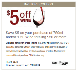 Total Wine Coupon Printable Coupons Coupons Store Coupons