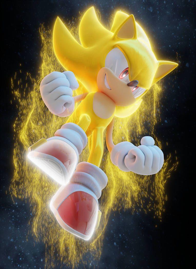 Super Sonic Hedgehog anime Pin 2